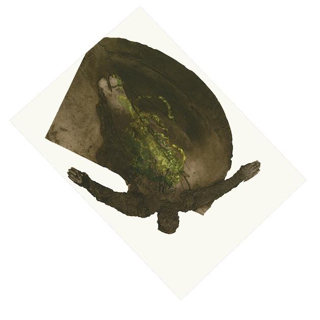 JT. Avec les forêts, estampe, var, collagraphie,  impression taille-douce, 178 x 178 cm
