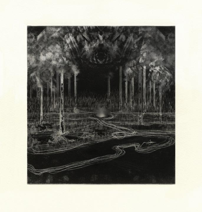 Paysage Mnémonique_cartel_39_4, dessin monotype numérique, 28 x 28 cm