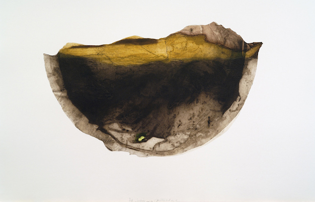 JT. La jachère, estampe, var 5, collagraphie, 72 x 110 cm