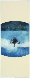 SB Arbre bleu, monotype, 76 x 22 cm