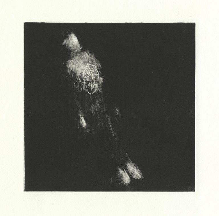 JT. PM ville 17-8, monotype impression taille-douce, 28 cm x 28 cm