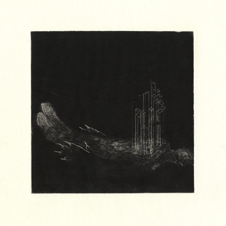 JT. Novembre 2, monotype impression taille-douce, 28 cm x 28 cm