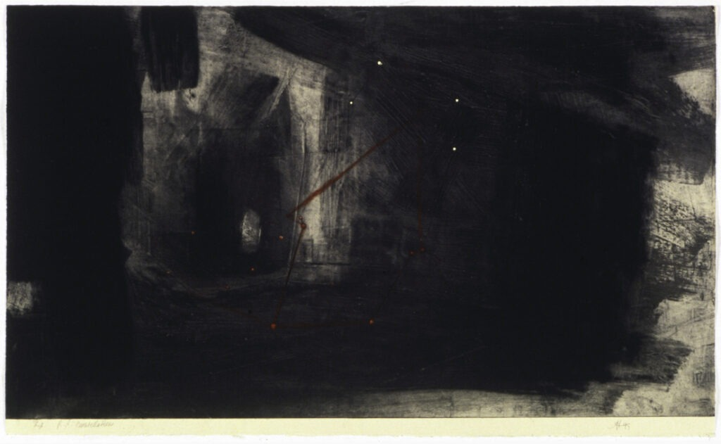 jT. RR constellation, estampe, ed 10. 58 x 76 cm