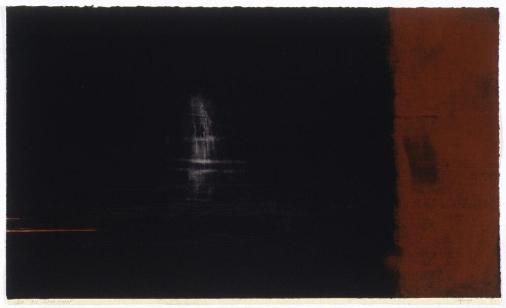 jT. RR Droit devant, estampe éd.10, 58 x 76 cm