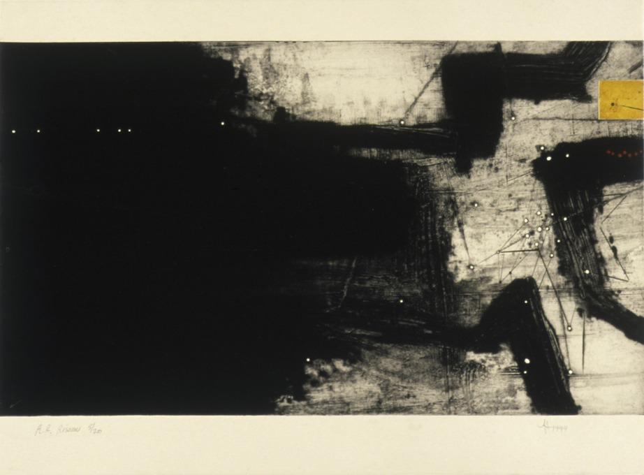 jT. RR Réseau, estampe, 65 x 76 cm