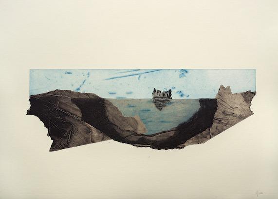 jT. Porteuse d'eau les rives, estampe, 65 x 76 cm