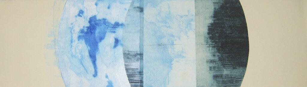jT. SB Céleste, monotype, 21 x 76 cm